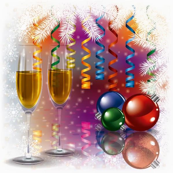 Celebración de fin de año - Vector