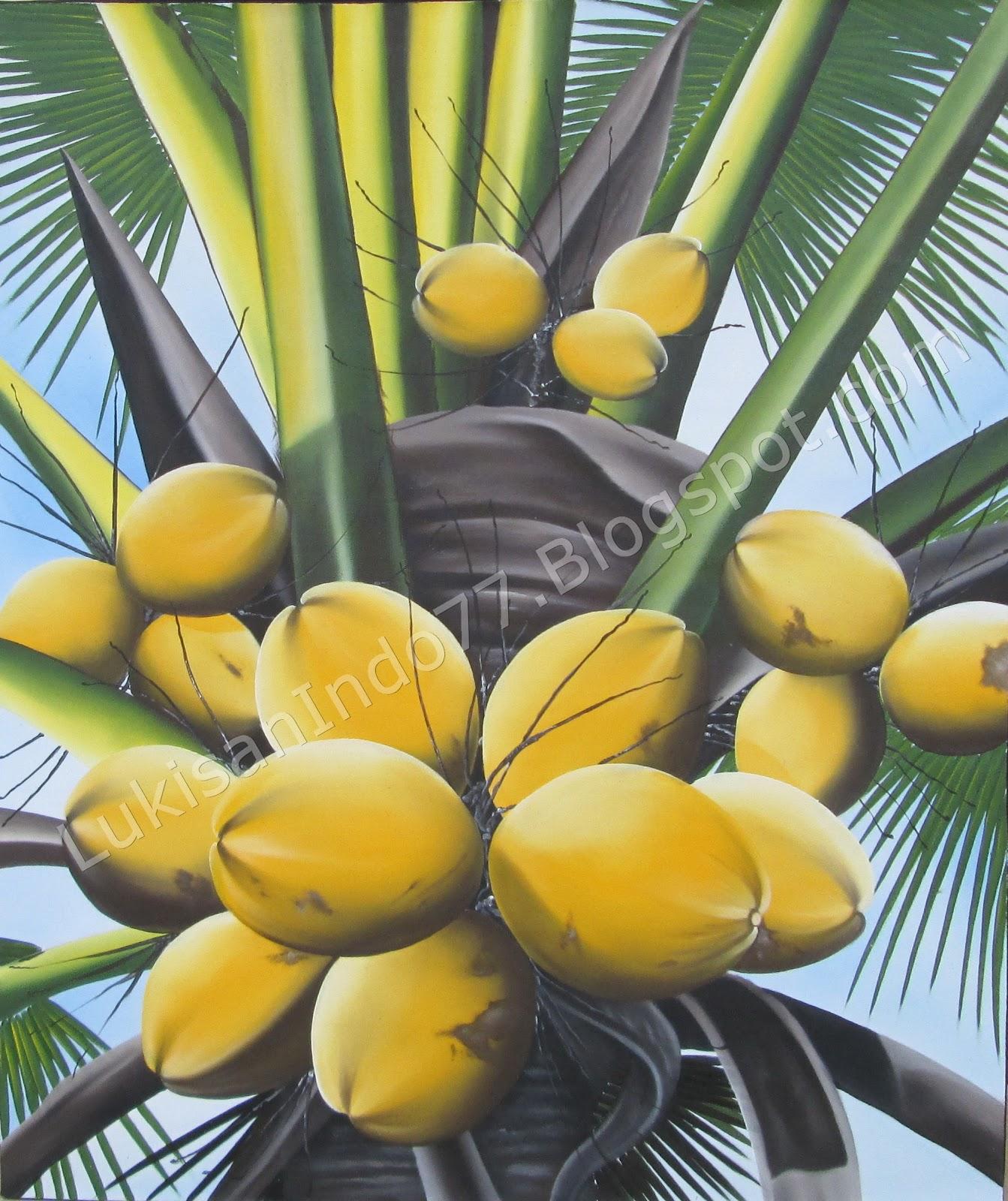 Oleh Oleh Bali Online Lukisan Pohon Kelapa Asli Bali