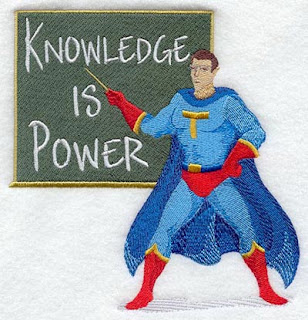 Super hero showing about the importance of knowledge