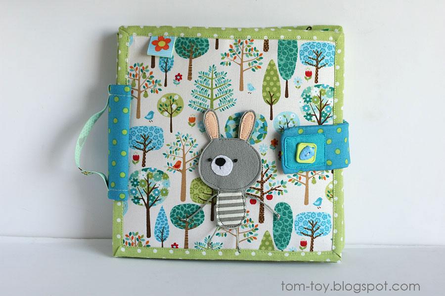 Bunny day quiet busy book for children, pretend play, развивающая книжка день зайчика