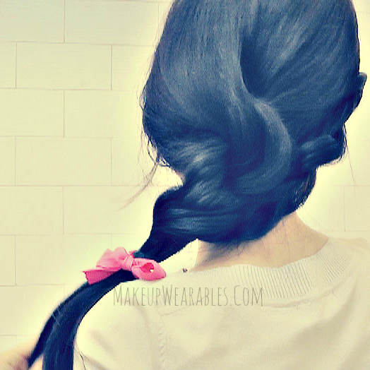 Quick & easy, everyday side rope braid ponytail hair tutorial video for long hair - wedding hairstyles updos