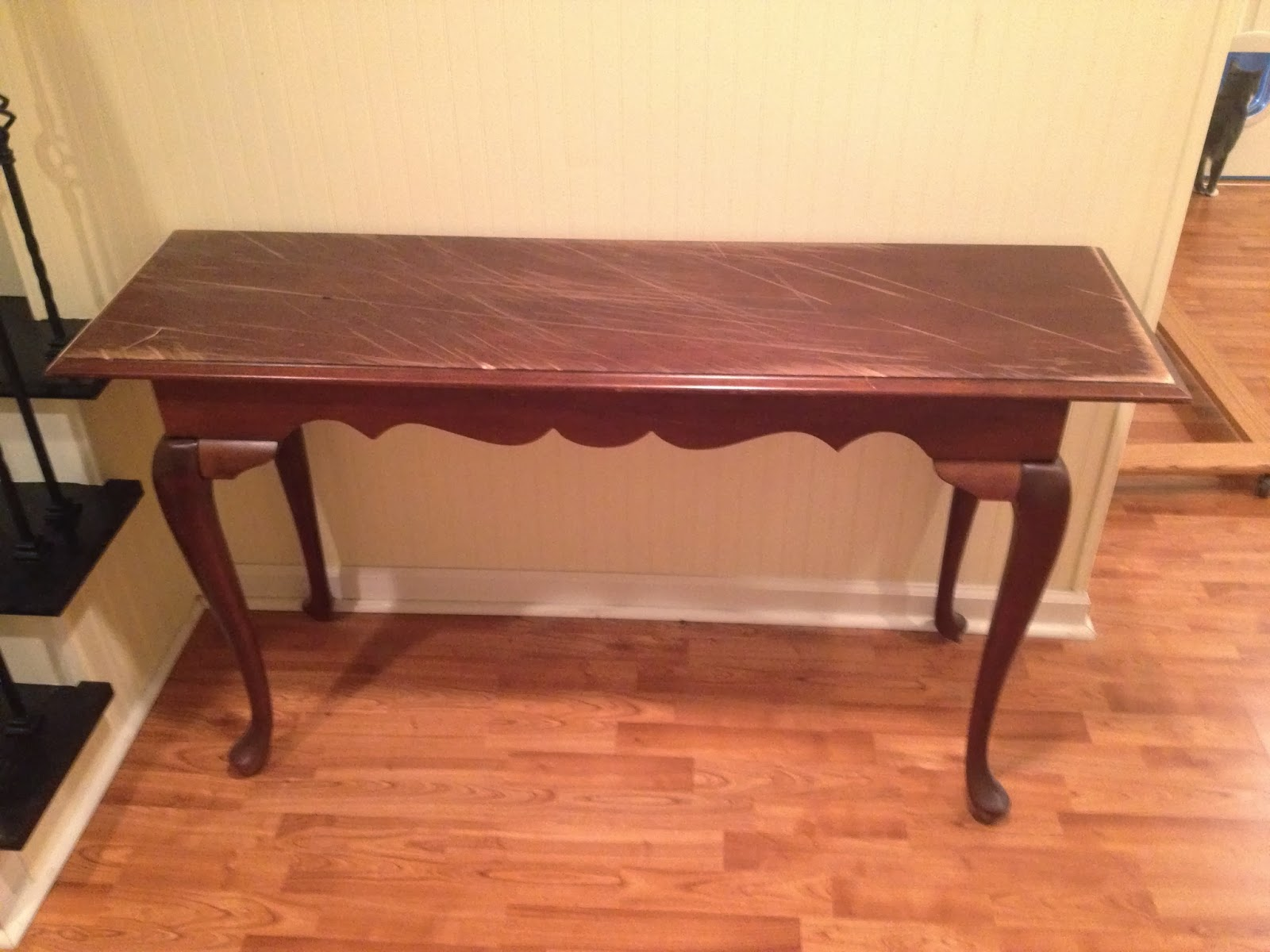 Between the Rafters Sofa Table Refurb