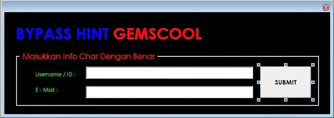 ByPass Change Passwod Gemscool, Tanpa HINT