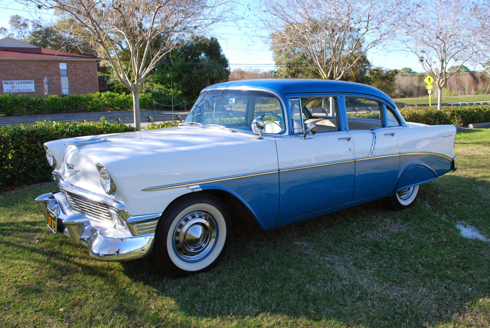 All american classic cars 1956 chevrolet two ten 4 door sedan for 1956 chevy 4 door