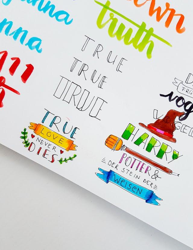 Handlettering Sketchbook | Janna Werner