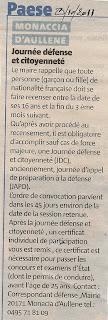 Monacia Journée défense et citoyenneté (JDC) 2011