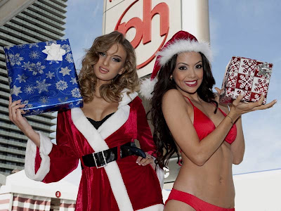 sexy mama noel en bikini navideño