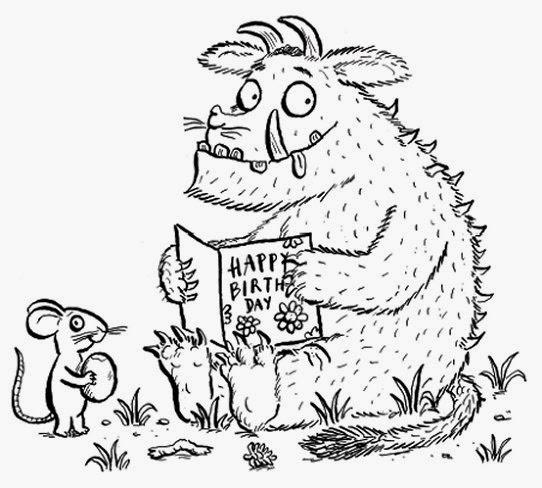 LAMINAS PARA COLOREAR - COLORING PAGES: El Gruffalo para dibujar y ...