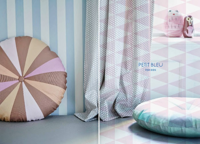 geometric pillows from Place de bleu