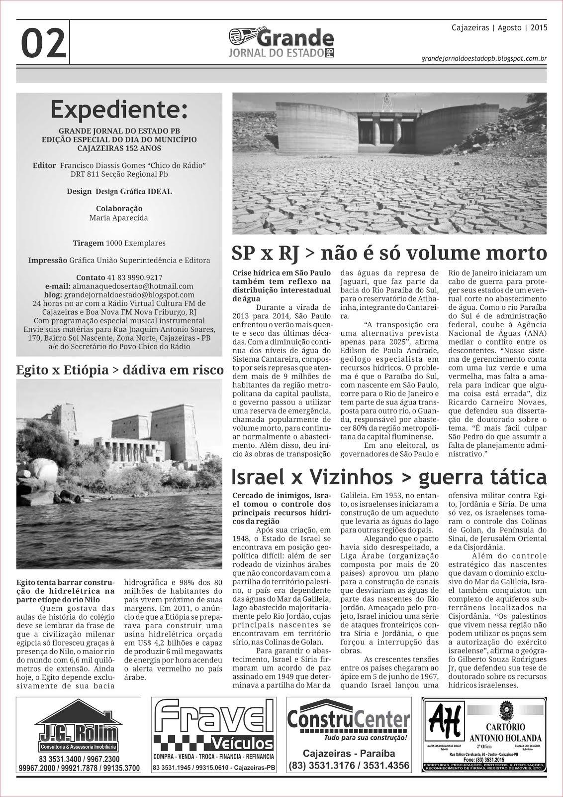 GRANDE JORNAL  DE CAJAZEIRAS PB