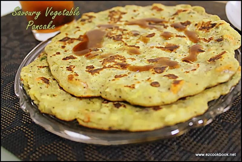 glutenfree savoury vegetable pancake