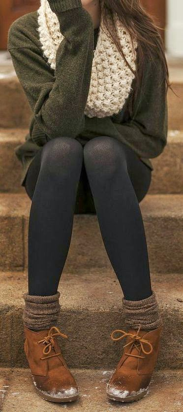 grey charcoal sweater black tights light
