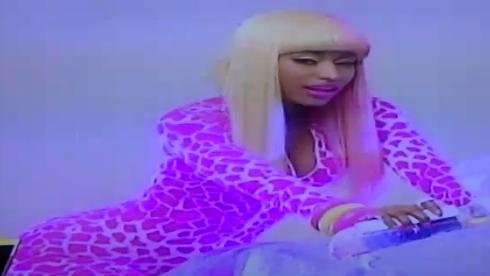 nicki minaj super bass video stills. Looks like Nicki Minaj is not