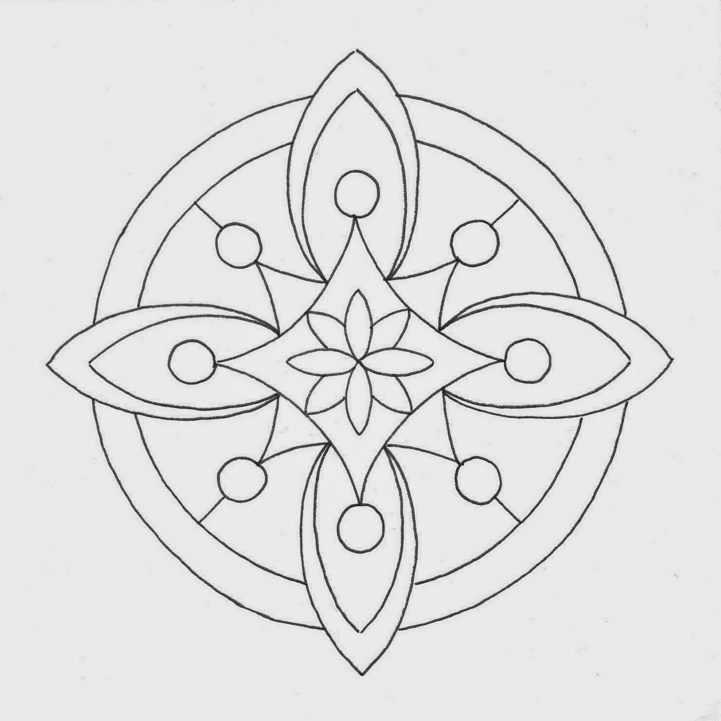mandala tekenen kleurplaten