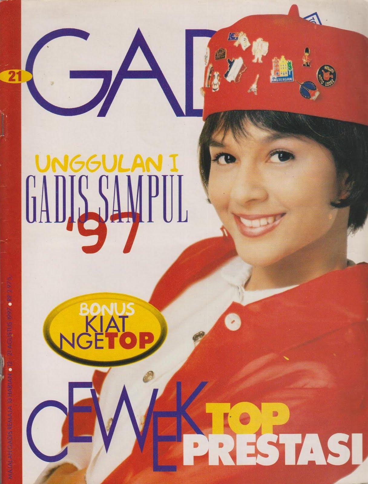 majalah gadis 1997 no 21 model pocut israita gadis sampul 1996