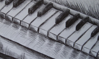 Original drawing piano keyboard by Mirabelle Knowles (2012)