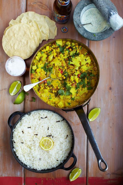 Keralan Veggie Curry post holidays meals recipes