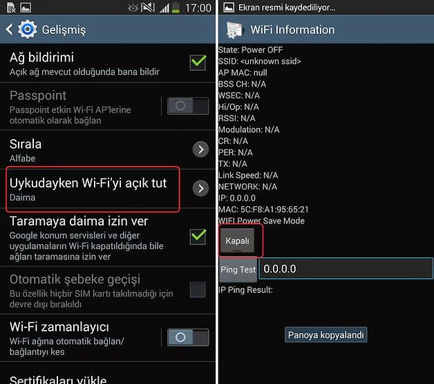 galaxy s6 wifi bağlanamıyor