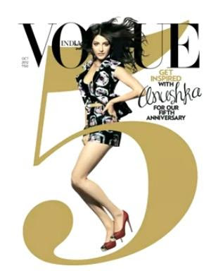 Anushka on the cover of Vogue