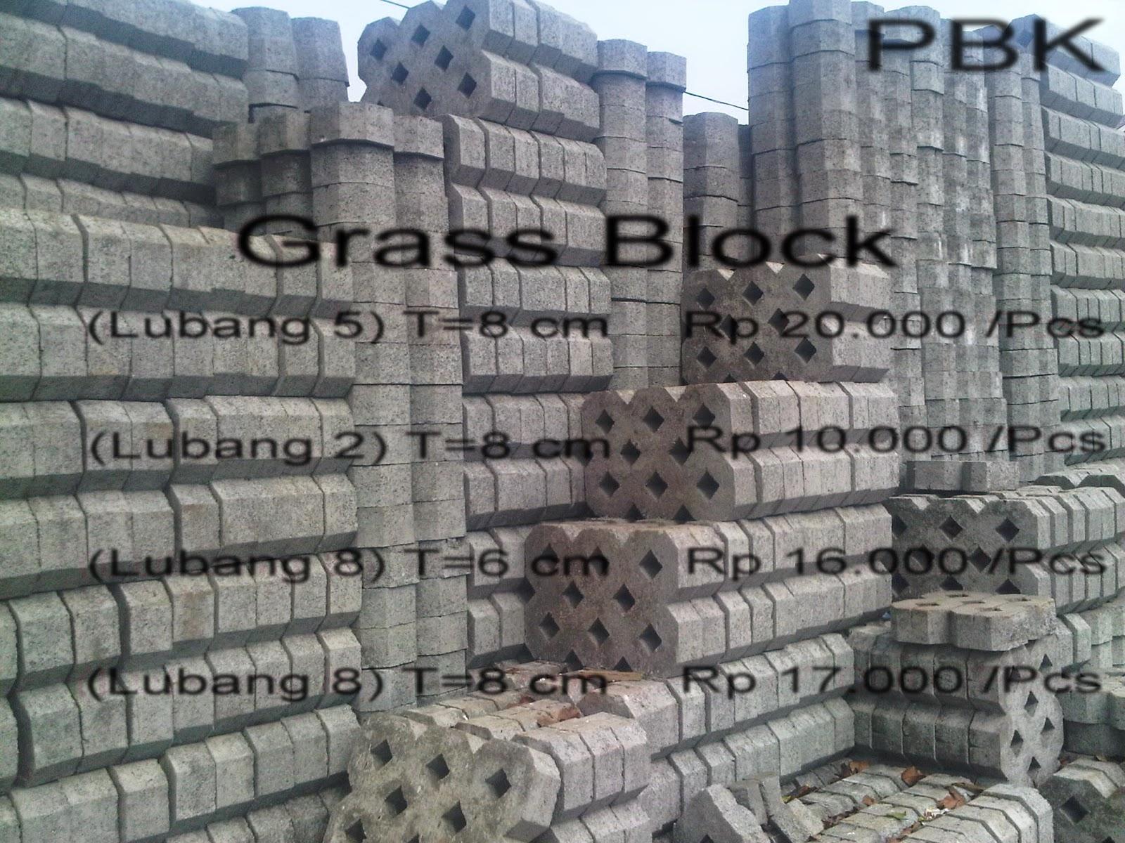 harga jual grass block