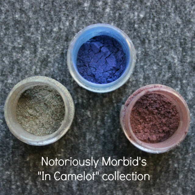 notoriously morbid in camelot collection swatch swatches morgana kilgarrah young merlin duochrome eyeshadow indie