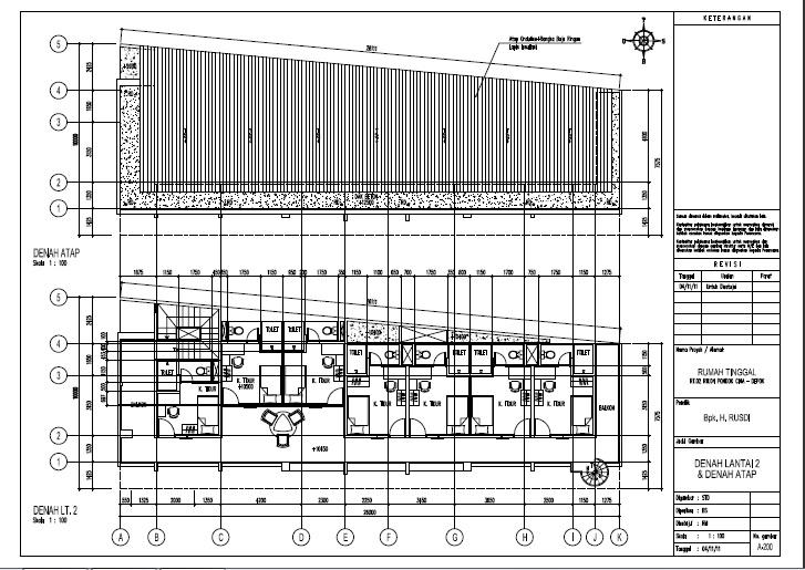 Contoh Desain Rumah Kost 3 lantai