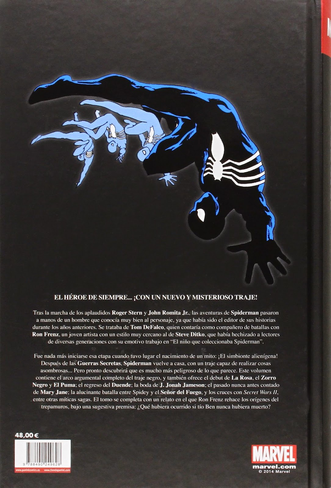 comic El Asombroso Spiderman. La Era Del Traje Negro
