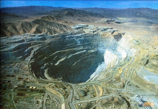 Chuquicamata copper mine. Chile