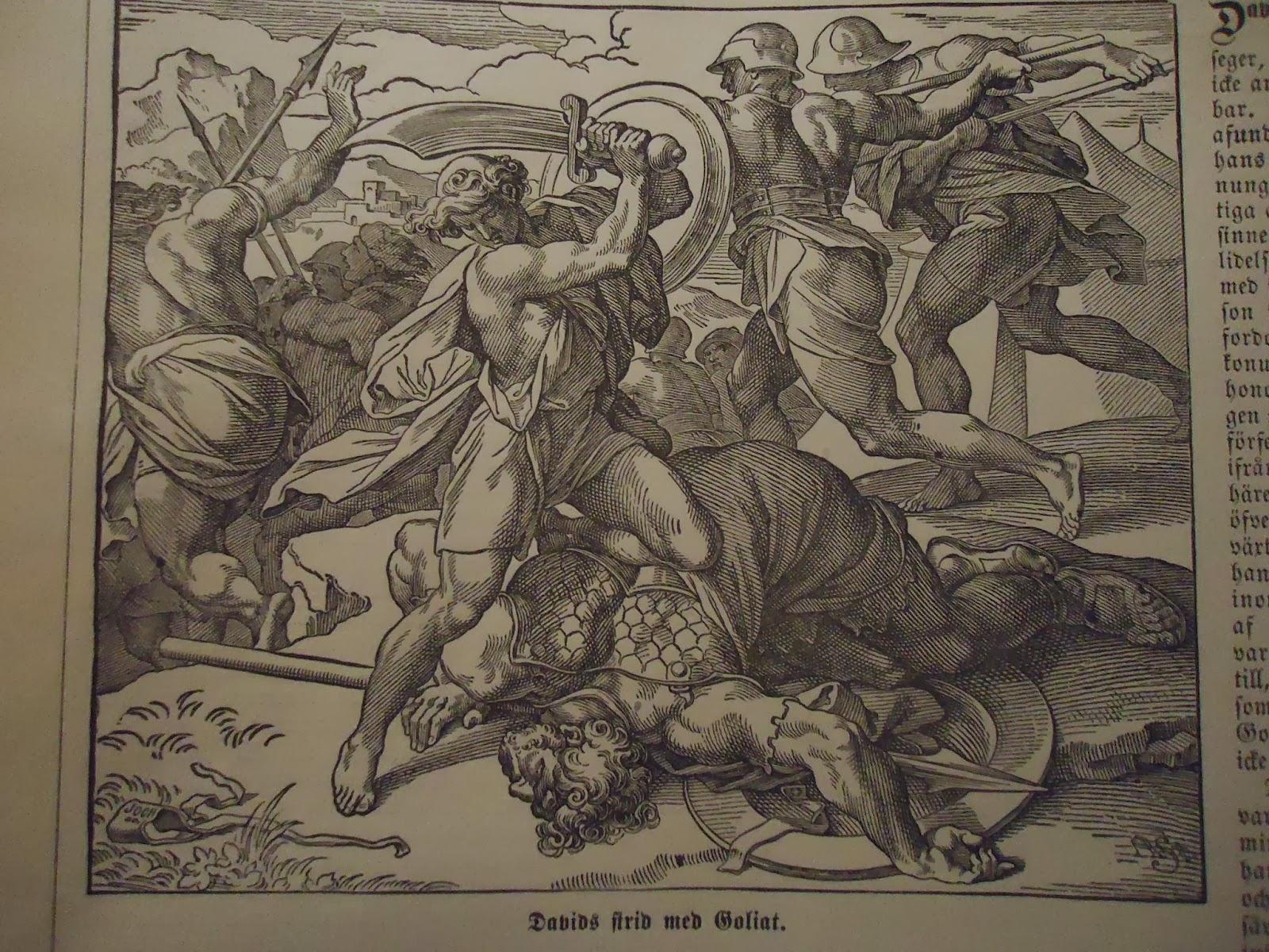 Bildresultat för david och goliat Bibeln illustrationer