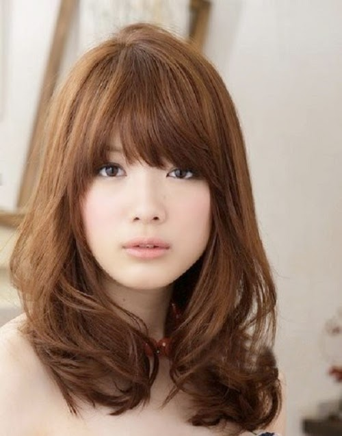 Model Rambut Wanita Sebahu Ala Korea 1