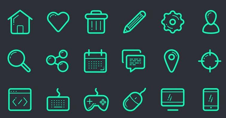 Free Icon Set (PSD, SVG, EPS)
