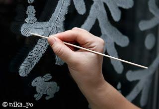 Как сделать новогодние рисунки на стекле