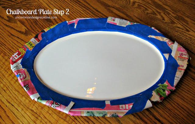 Chalkboard Plate tutorial