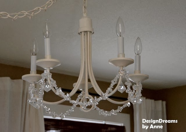 Designdreams by anne making a chandelier my own for How to make your own chandelier