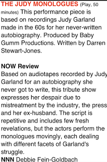 NOW Magazine review of The Judy Monologues