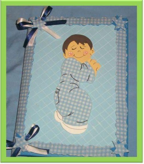 caderno decorado de bebe