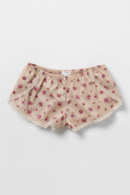 Trend-Spotting, Tap Pants, fashion, fashion trends, lingerie, Anthropologie Ditsy Dahlia Shorts