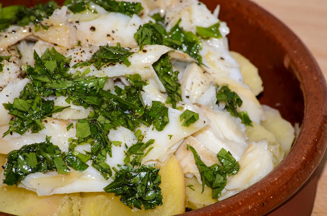 Bacalao con vinagreta de limón; Cod with lemon dressing