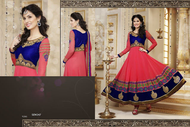 New Designers Stylish Floor Length Bridal Wear Anarkali Suit