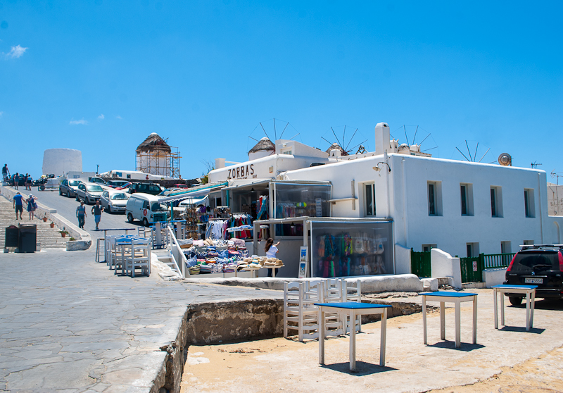 white buildings in greece mykonos town