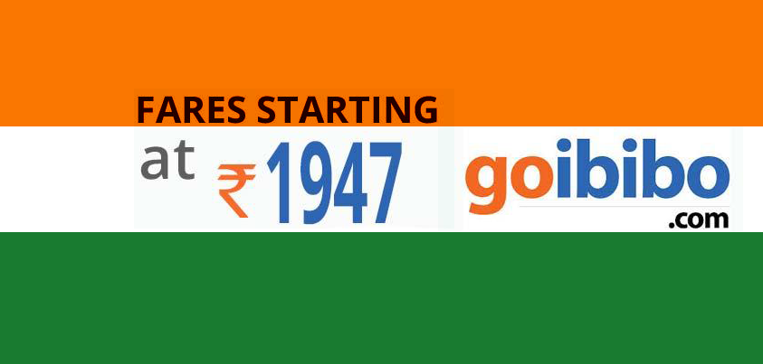 goibibo Independence day Offers 2014 flat discounts