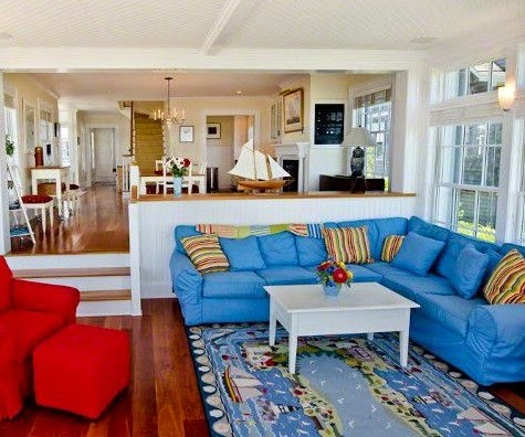 new england nautical style living rooms completely coastal. Black Bedroom Furniture Sets. Home Design Ideas