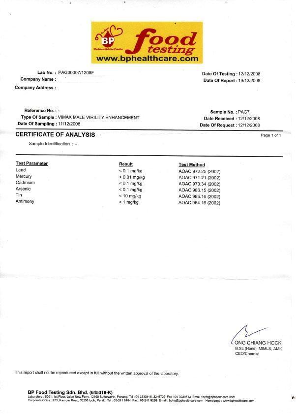 vimax kapsul untuk lelaki ujian makmal vimax