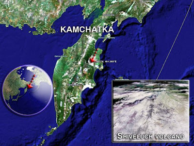 VOLCAN SHIVELUCH, EN KAMCHATKA REGISTRA FUERTES EXPLOSIONES, EL 10 DE JUNIO 2013