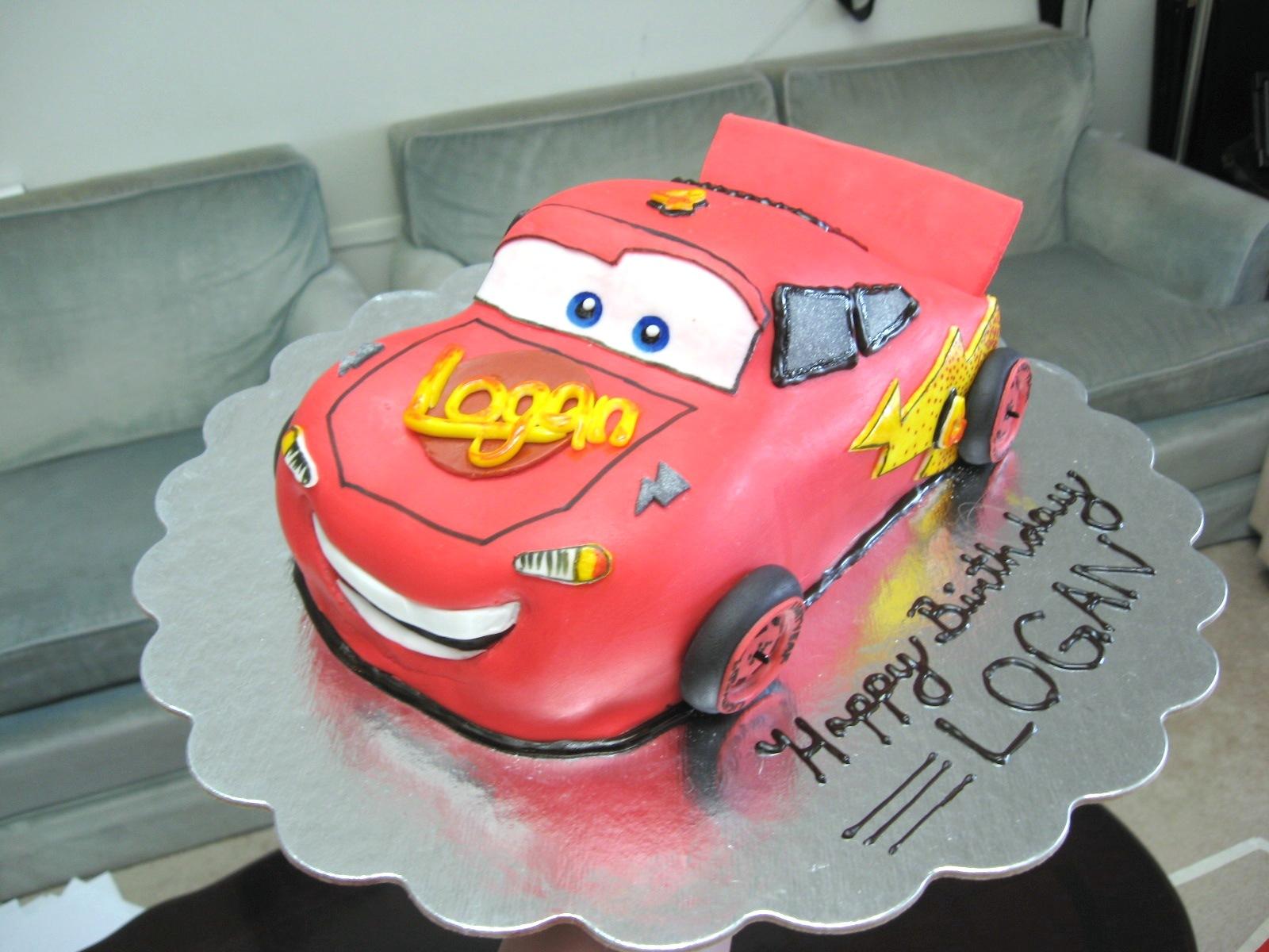 Cakeopolis 69 Logans 4th Birthday Cake Lightning Mcqueen
