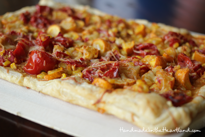 Tomato, Zucchini & Corn Tart