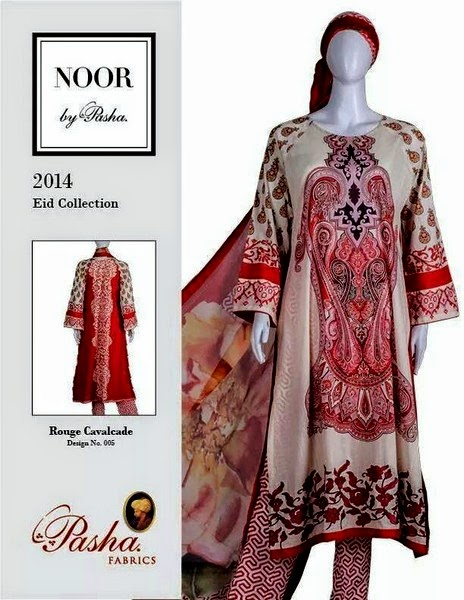 Noor Eid Dress Collection 2014 by Pasha Fabrics