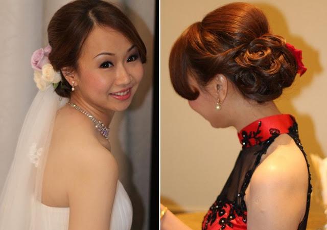flower hair, makeup necklace