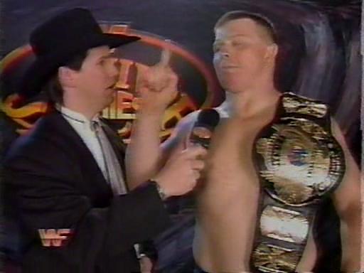 WWF / WWE - Survivor Series 1994: New WWF Champion Bob Backlund cut an awesome post-match promo