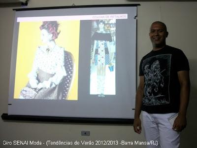 Palestrante Saint Clair dos Santos, estilista do SENAI.